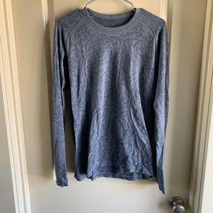 Lululemon Swiftly Tech Long Sleeve Grey Pattern 12